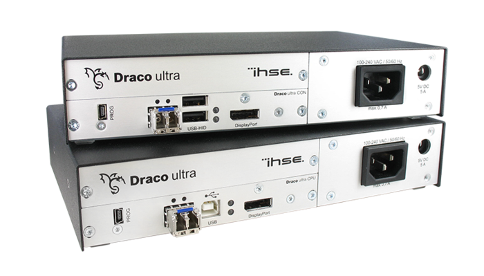 IHSE Draco Ultra KVM extender reaches unprecedented 30 bit colour depth of