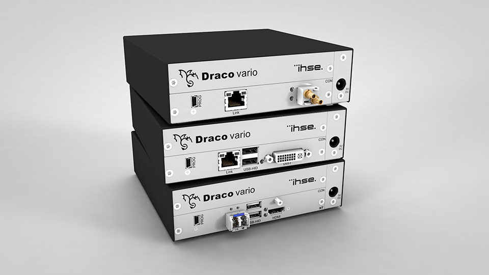 IHSE expands the successful Draco Ultra series with new KVM extender models
