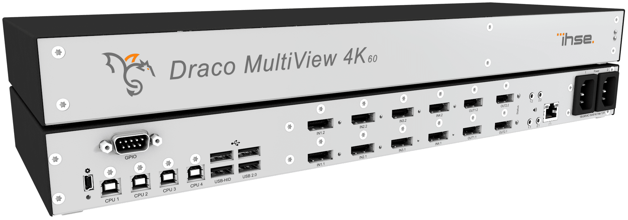 IHSE releases it's new Draco MultiView4K60