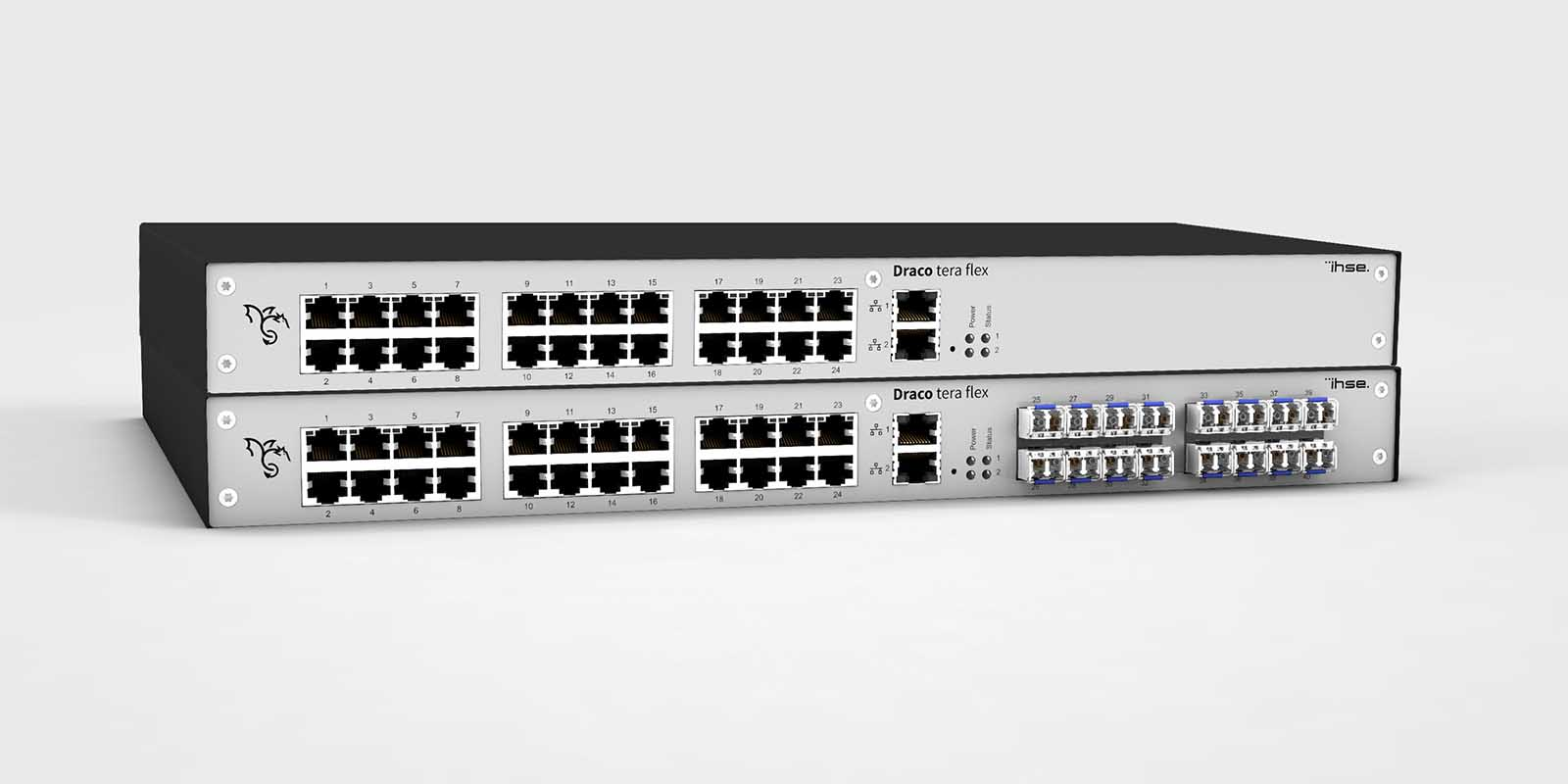 IHSE launches the new Draco Tera Flex series of KVM matrix switches