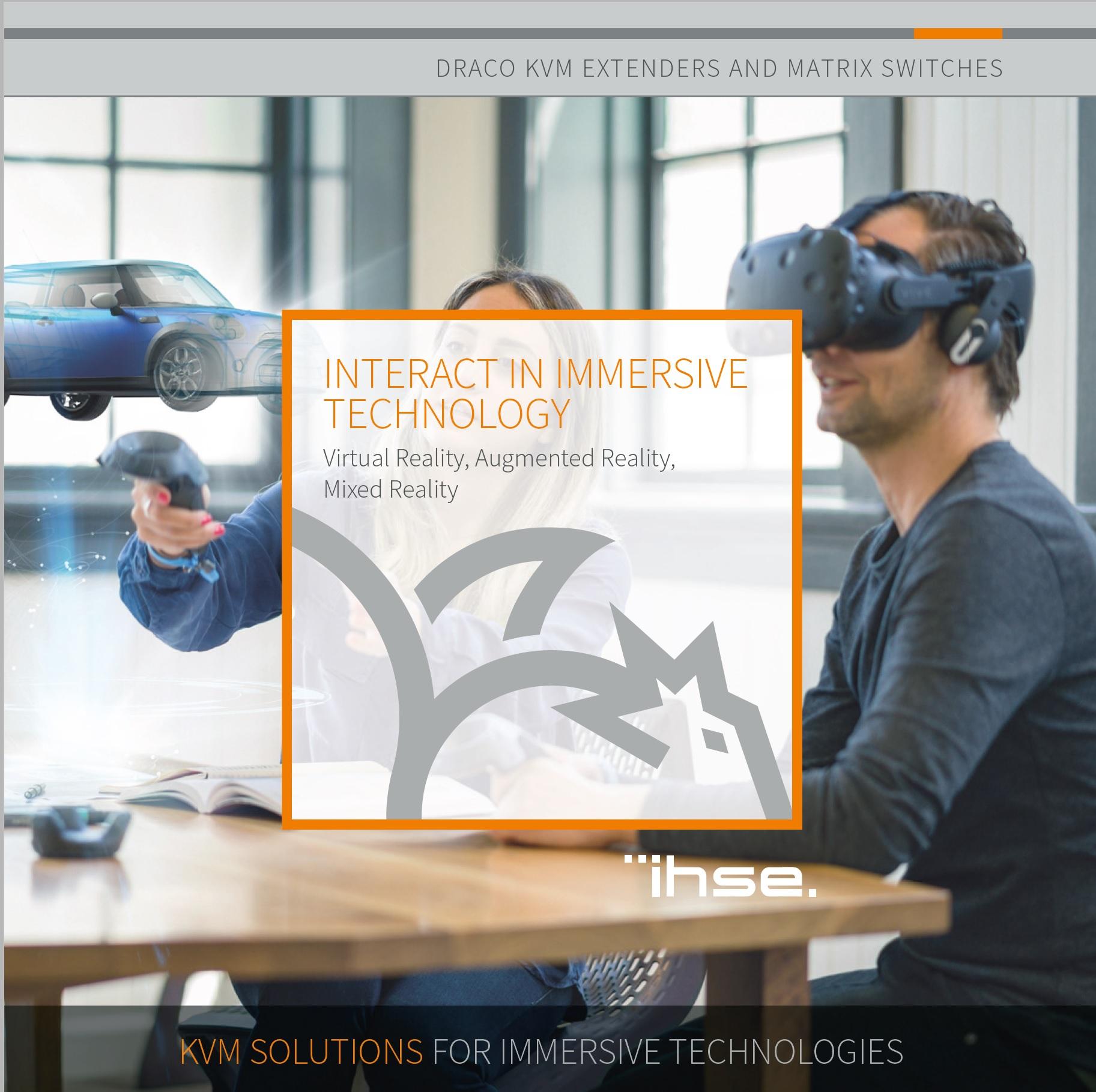 IHSE KVM Solutions for Immersive Technologies / VR